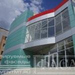Вентилируемый фасад торгового центра