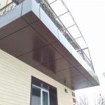 Облицовка балкона алюминиевыми композитными панелями