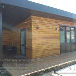 Деревянный вентилируемый фасад дома