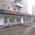 Здание до монтажа керамогранитной плиты