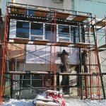 Процесс монтажа навесного вентилируемого фасада